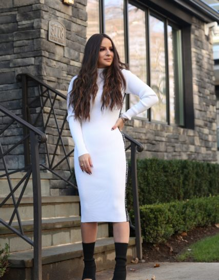 Michael Kors knit dress -white
