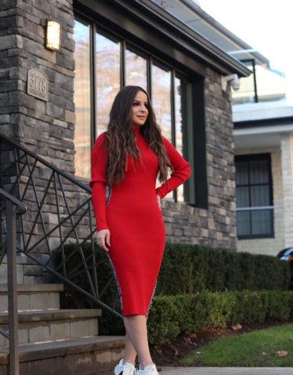 Michael Kors knit dress- Red