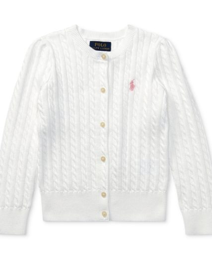 Ralph Lauren girls knit-off white