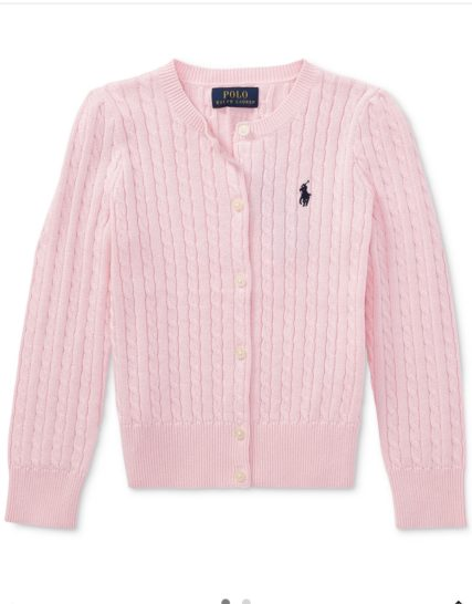 Ralph Lauren girls knit-pink