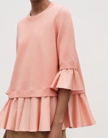 Pink knitwear