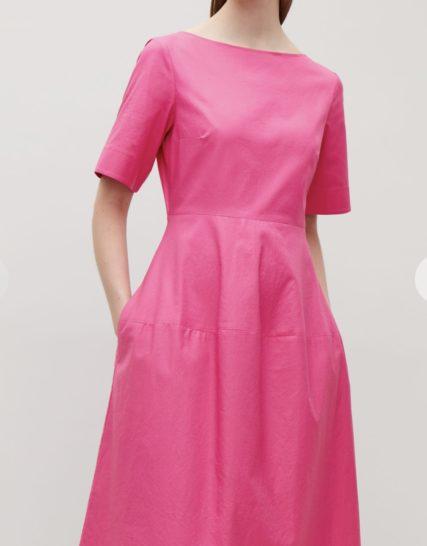 Fuchsia midi dress