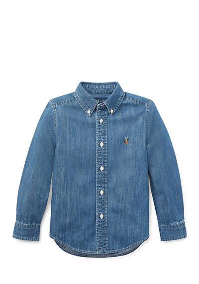RALPH LAUREN - חולצה מכופתרת ג'ינס