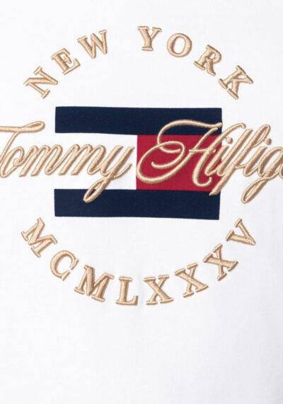 TOMMY HILFIGER - פוטר לבן זהב