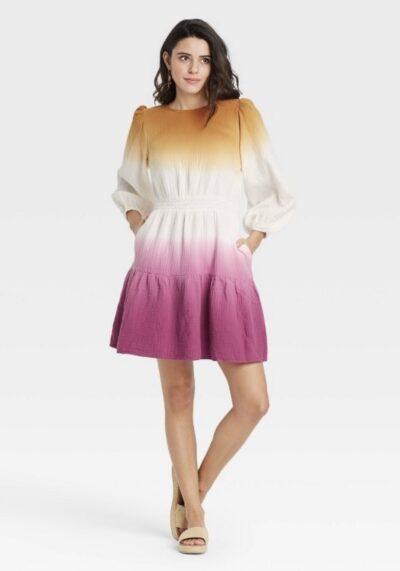 שמלת אומברה סגול